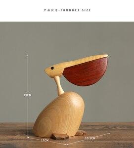 Image 4 - 북유럽 덴마크어 단단한 나무 장식 목조 홈 TV 캐비닛 입구 장식 설정 Bigbillbird 공예품