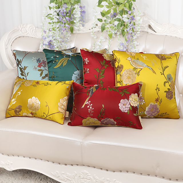 luxury christmas chair covers coleman lumbar quatro classic floral sofa cover cushion decorative pillow case tapestry high end chinese