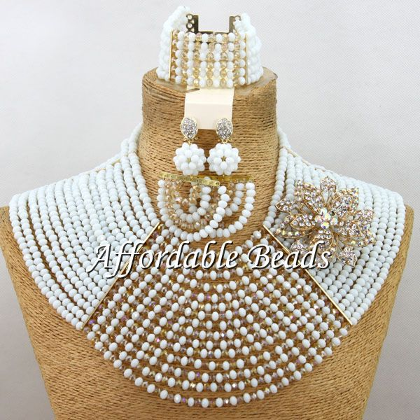Wedding Crystal Jewelry Set Marvelous Nigerian Beaded Jewelry Set Wholesale Free Shipping ABW093Wedding Crystal Jewelry Set Marvelous Nigerian Beaded Jewelry Set Wholesale Free Shipping ABW093