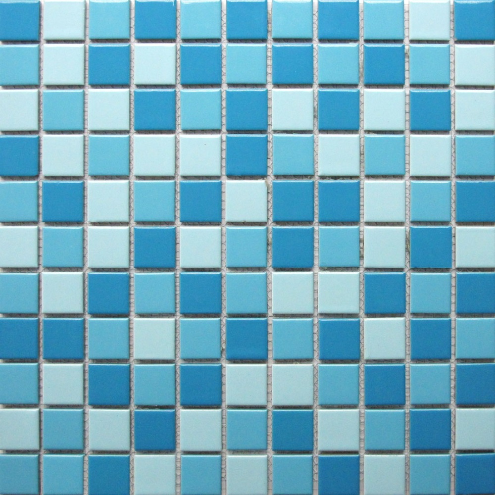 Aliexpress Com Buy Fahsion Blue And White Ceramic Mosaic