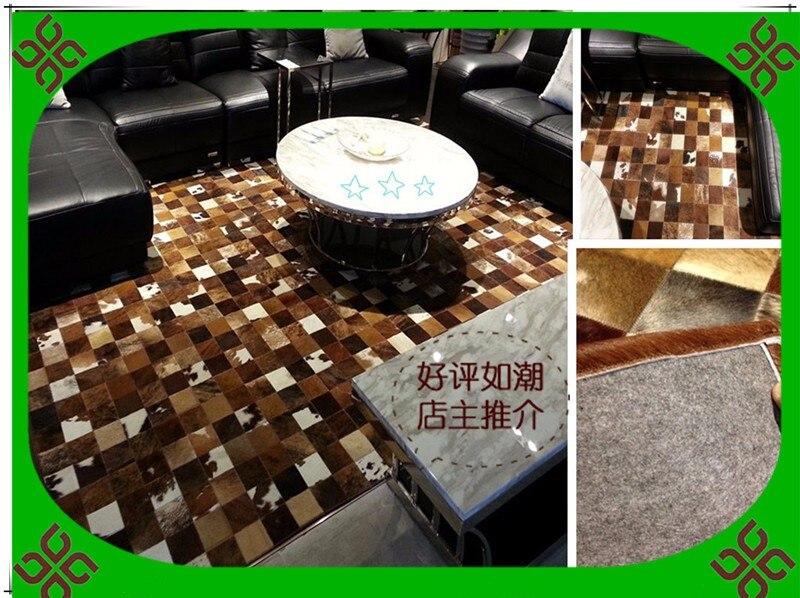 Fashionable art carpet 100% natural genuine cowhide leather carpets in guangzhouFashionable art carpet 100% natural genuine cowhide leather carpets in guangzhou
