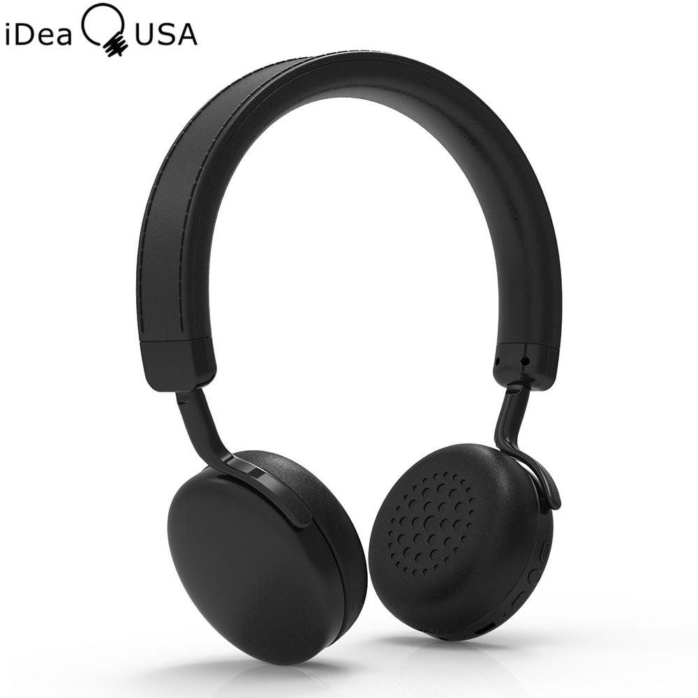 iDeaUSA V202 Wireless On-ear Stereo Bluetooth Headpones with apt-X Built-in microphone for iOS Apple Android Phone / Tablet / TV free shipping launch m diag lite for android ios with built in bluetooth obdii mdiag m diag lite better than x431 idiag easydiag