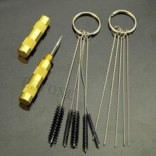 U119 11 PC Airbrush Spray Cleaning Repair Tool Kit Stainless Steel Needle Brush Set