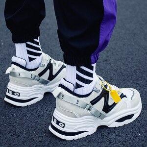 Image 5 - TYDZSMT 2020 נשים נעליים יומיומיות סל צאן פלטפורמת לבן סניקרס שרוכים תפירת טריזי מאהב נעלי נשים Zapatos Mujer
