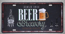 1 pc Beer brewery premium quality bar drink  plaques shop store Tin Plates Signs wall Decoration Metal Art Vintage Poster