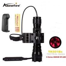 AloneFire 501B 5W אינפרא אדום IR 850nm פנס LED ראיית לילה פלאש אור לפיד ציד FlashLamp פנס