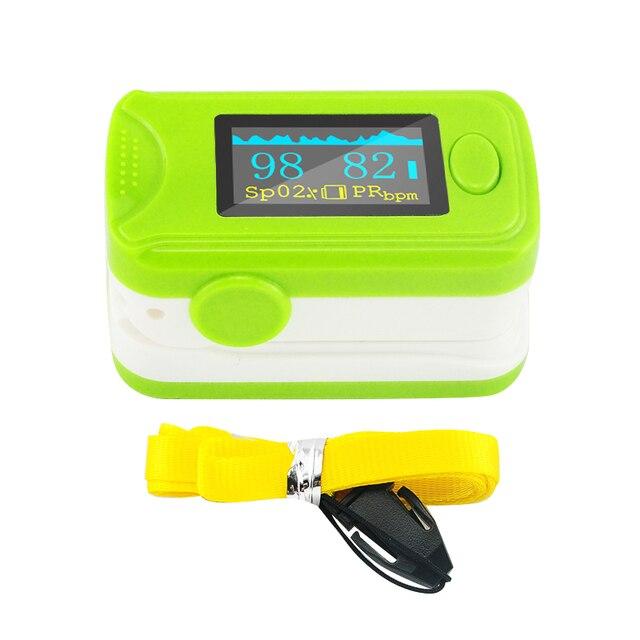 NEW Free shipping Health care Green CE OLED Finger Pulse Oximeter Blood Oxygen SPO2 PR Oximetro Monitor Blood Pressure Monitor