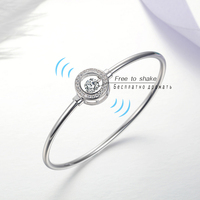 100 925 Silver Bangle For Women Dancing Stone Jewelry Main Stone Female Bangle JD79