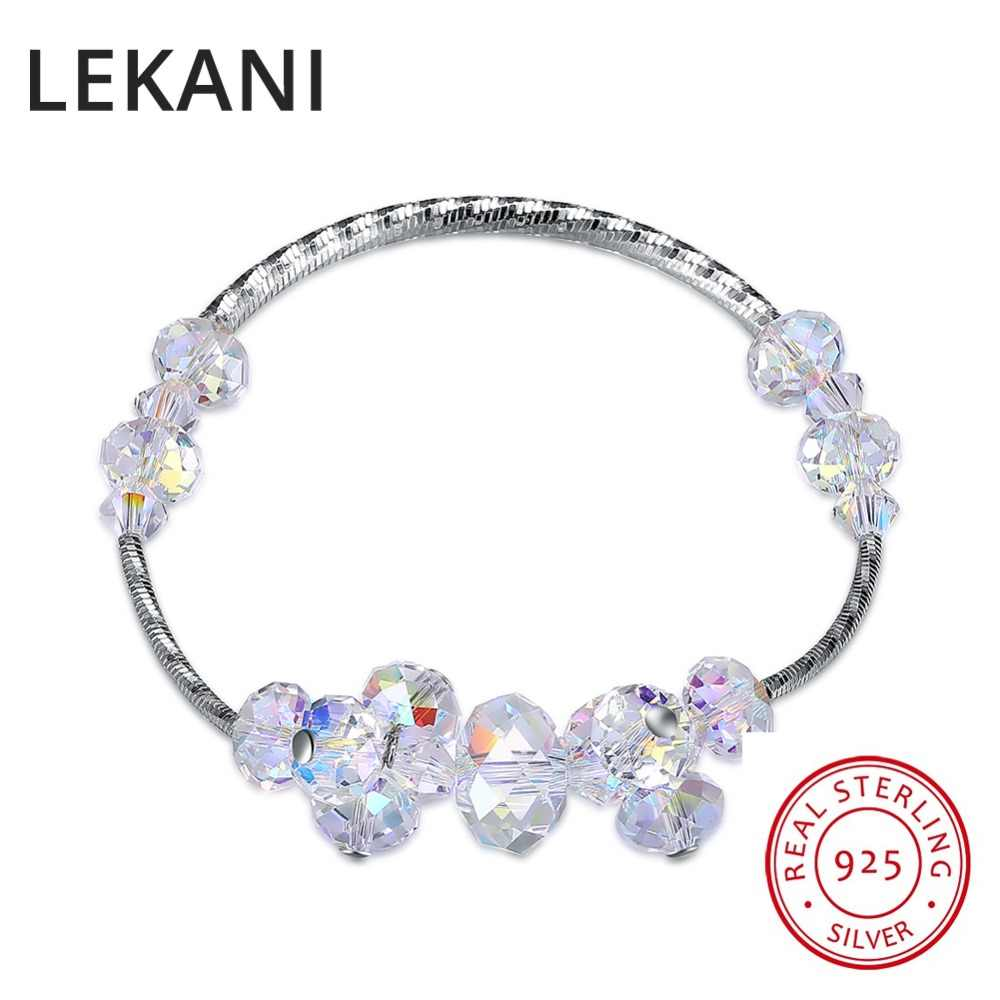 691c52860dd73 LEKANI Original Irregular Crystals From SWAROVSKI Charm Bracelet Bangles  Beads Accessories For Women 925 Silver Fine Jewelry