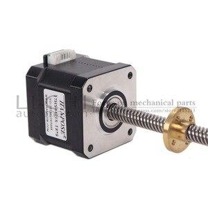 Image 3 - Motor paso a paso de tornillo Nema17 de 40mm, 17HS4401S T8 L300MM con tuerca de cobre de plomo de 2/4/8mm para motor de impresora 3D, Envío Gratis