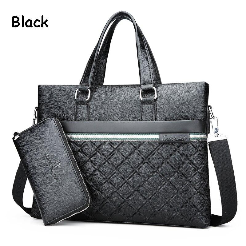 HTB18OdZfOOYBuNjSsD4q6zSkFXaT Classic Plaid Design Business Man Bag Vintage Brand Men's Messenger Bag Casual Business Male Shoulder Bags For Male bolsa Hot