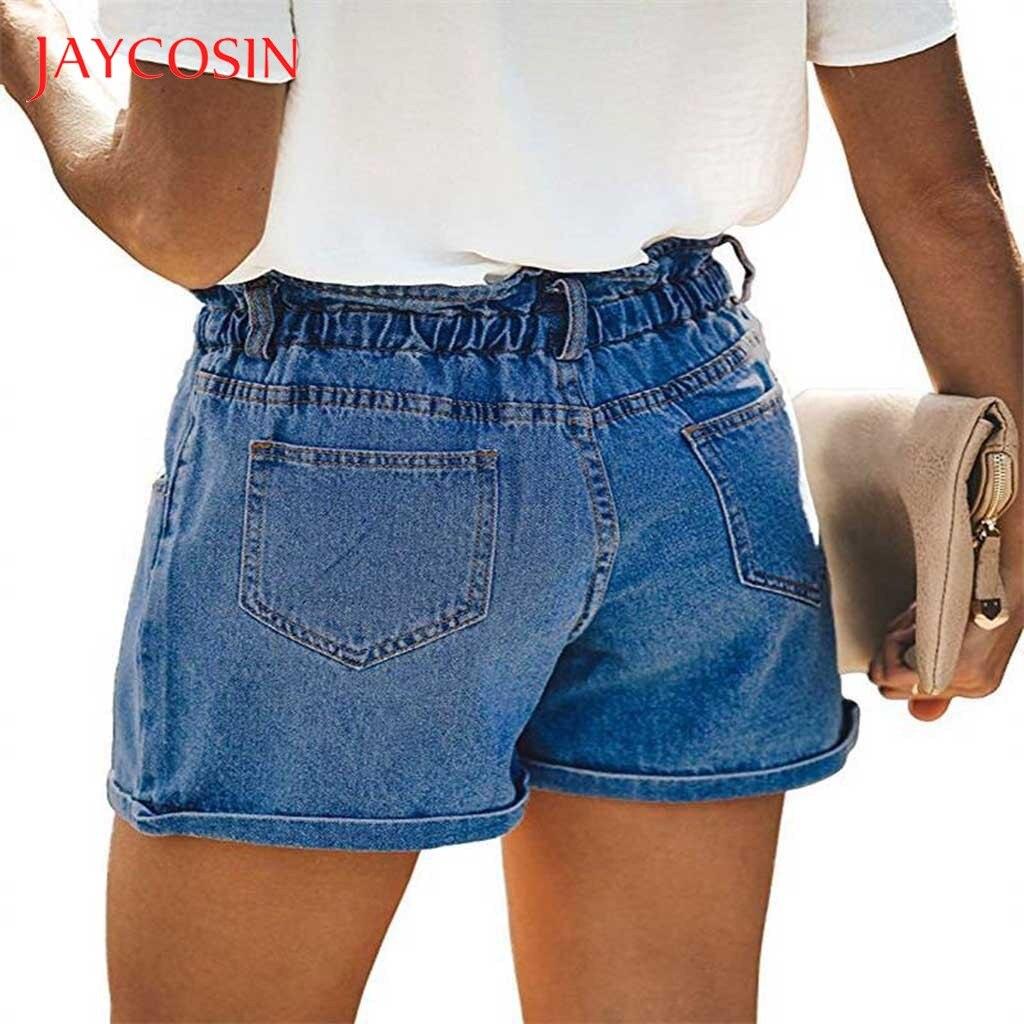 JAYCOSIN Denim Shorts Classic Vintage High Waist Blue Wide Leg Female Caual Summer Shorts For Women 2020Summer Casual High Waist