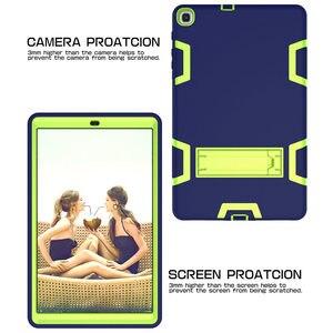 Image 2 - Pesante Custodia In Silicone per Samsung Galaxy Tab 10.1 SM T510/T515 S5e T720/T725 T590/T595 10.5 pollici Tablet Funda Capa Cover + Regali