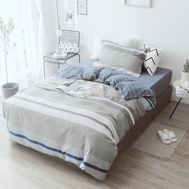 100% coton doux ensembles de literie linge de lit mode Simple Style ensemble de literie hiver pleine taille housse de couette ensemble de draps ensemble chaud - 3
