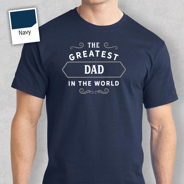 Dad Happy Birthday T Shirt Gift Present Personalised Worlds Greatest Love Shirts Short Sleeve Leisure Fashion Summer