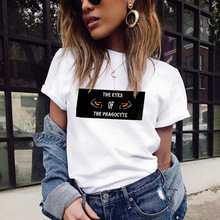 High Quality T shirt Woman Sexy Shirt Women 2019 New Summer Europe Vogue Letter Printing o Neck Short Sleeve Fashion GBQ
