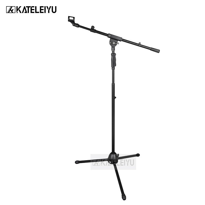 все цены на BY-751 Professional swing boom floor stand microphone holder Flexible Stage Microphone Stand Tripod онлайн