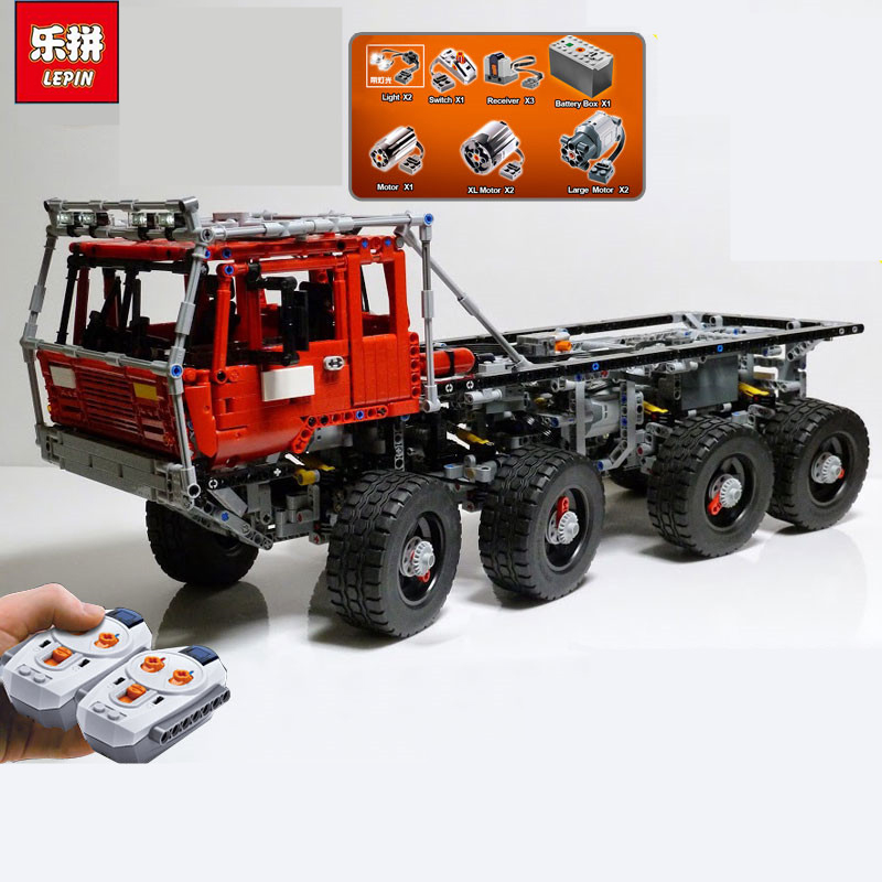 NEW Lepin 23012 2839Pcs Genuine Technic Series The Arakawa Moc Tow Truck Tatra 813 Educational Building Blocks Bricks Toys Gift датчик скорости для велосипеда brand new 2015 bogeer yt 813 yt 813