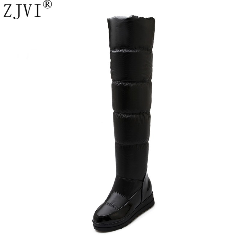 ZJVI woman winter over the knee snow boots fashion thigh high boots 2018 women platform ladies womens female thick plush boots