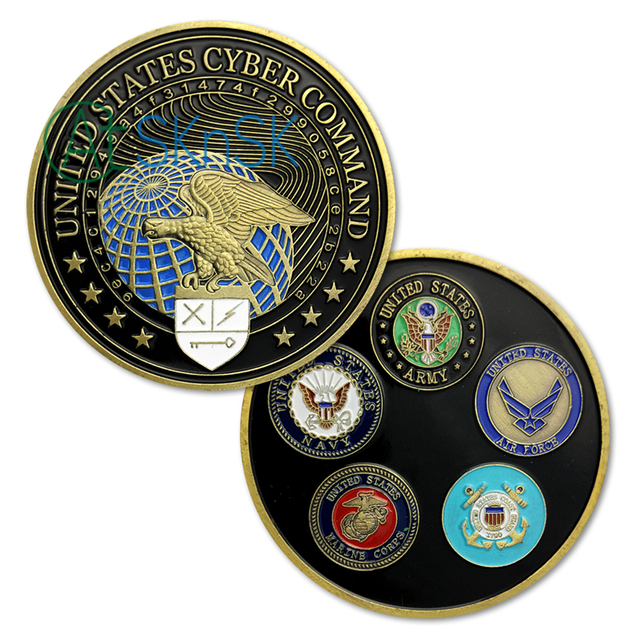Aliexpress com : Buy 100pcs/lot United States Cyber Command All Military  Branches Challenge Coin Commemorative Token Coins Souvenir Collectibles  Gift