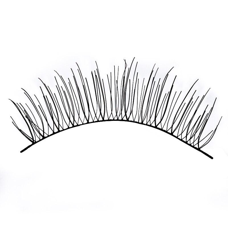Natural Long Style Fake Eyelashes 10 Pairs/lot Synthetic Hair Black Cotton Stalk False Eyelash 1.2cm Length