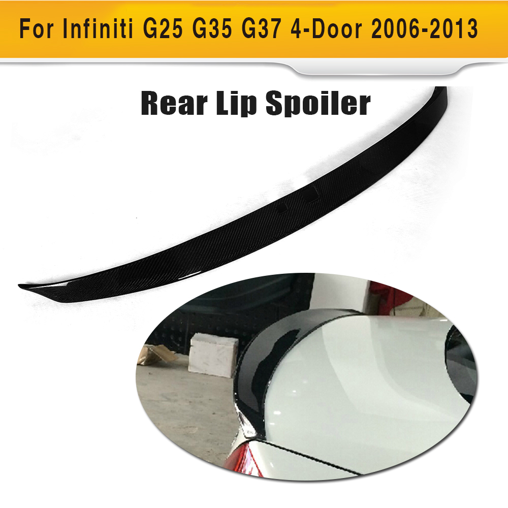 Carbon Fiber Car Rear Spoiler Rear Wing Spoiler Fit For Infiniti G25 G35 G37 4 Door 2006 - 2013