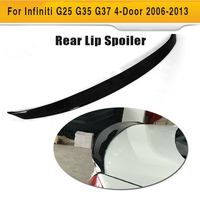 Carbon Fiber Car Rear Spoiler Rear wing spoiler fit for Infiniti G25 G35 G37 4 door 2006 2013