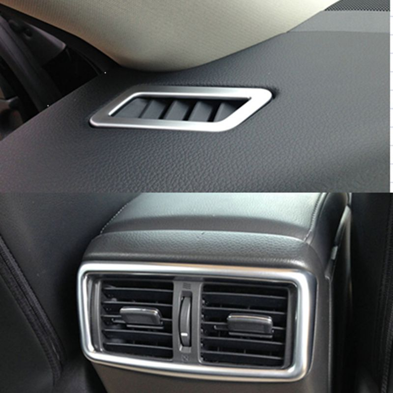 Bbincar ABS Chrome Air Condition AC Vent Cover Trim Decoration Molding Sticker Bezel For nissan Rogue X-Trail 2014 2015 2016