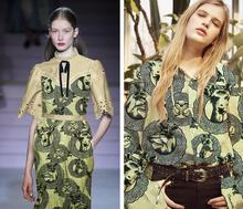 Printing cartoon animal pattern Silk Fabrics dresses tweed scrapbooking cheap print satin lace fabric costura, B680