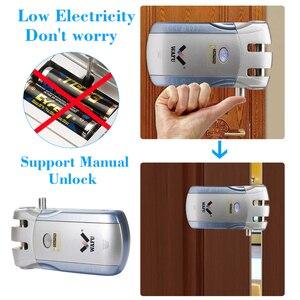 Image 3 - Wafu 010 ワットワイヤレス wifi スマートドアロック電子ドアロックアプリでリモートロック解除 4 リモートキー