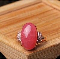 Argentina натуральный родокрошит ледяное кольцо 925 серебряное кольцо, женские модели