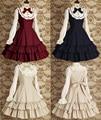 Сладкая любовь лолита старинные кружева платье с длинным рукавом платья ежедневно / косплей костюмы