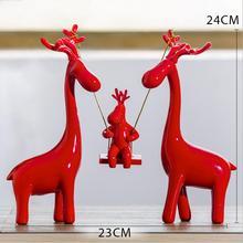 ФОТО creative small ornaments wine cabinet furnishings home decorations wedding gifts modern simple craft resin deer 05100