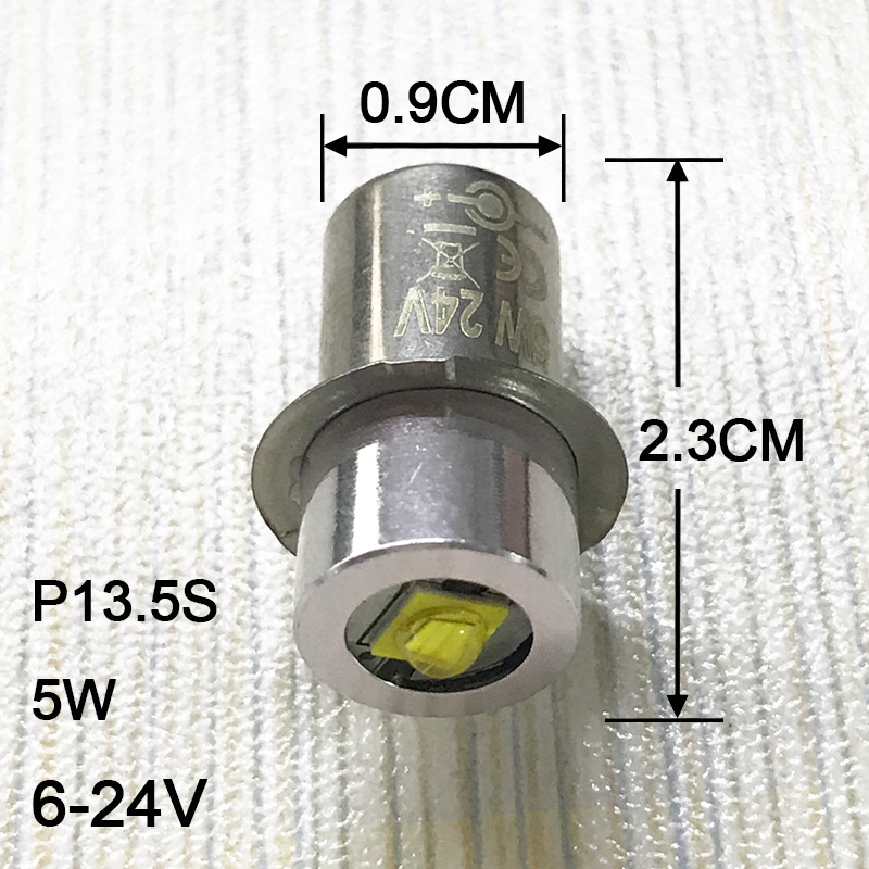 2PCS / lot P13.5S žárovka žárovky 0,5w 1w 5w nouzové žárovky 3v 4.5v 6v Led žárovka náhradní žárovka