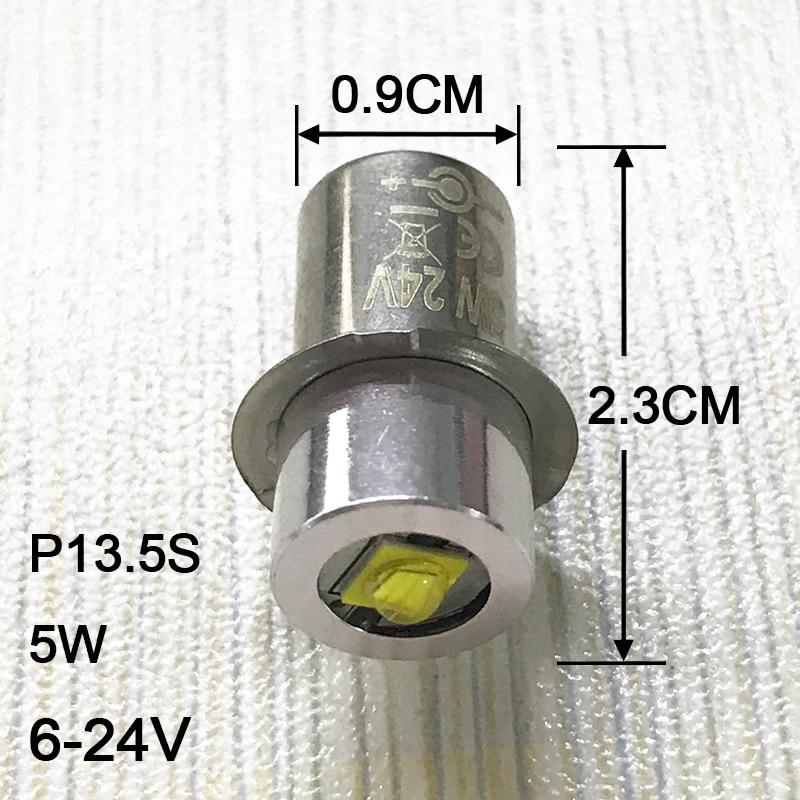 2PCS / παρτίδα P13.5S λαμπτήρα φανός 0.5w 1w 5w λάμπες έκτακτης ανάγκης 3v 4.5v 6v Led λάμπα φανός αντικατάστασης λαμπτήρα