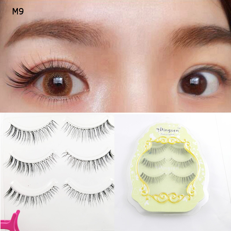 Japanese Korea Eye Tail Encryption  Clear Brand Lash False Charming  Silk Eyelash  Sharpening Series Lashes