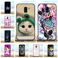 For Samsung Galaxy J6 Case Soft TPU Silicone J600F Cover Floral Pattern On6 J600G Coque