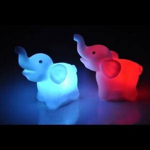 Image 3 - 색상 변경 코끼리 LED 램프 웨딩 생일 파티 장식 LED 밤 빛 휴일 조명 선물 홈 침실 램프