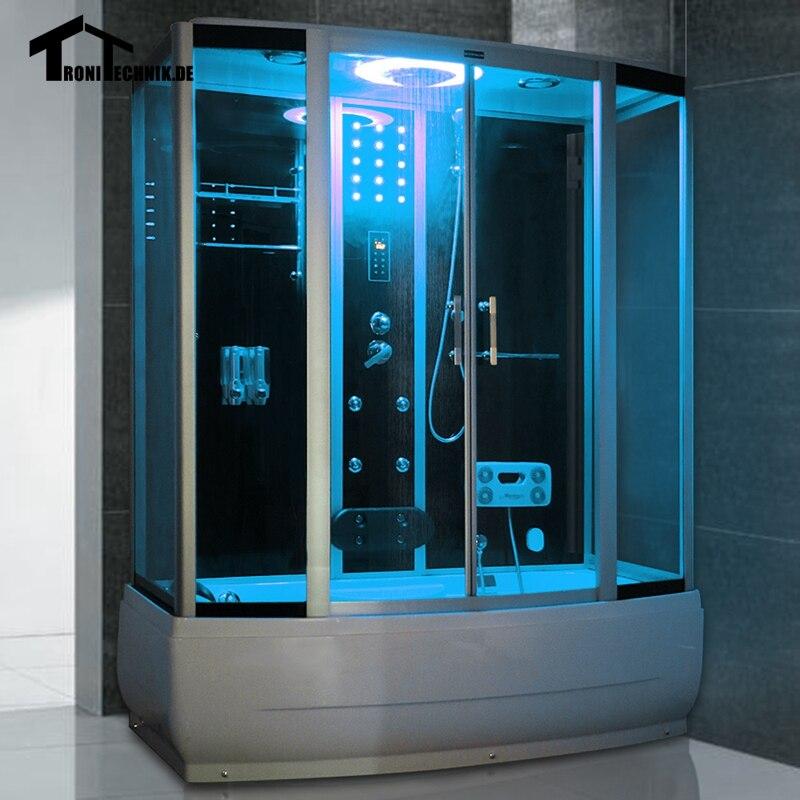 1700mm shower cabin Steam Shower Enclosure Cabin Cubicle Shower Bath ...
