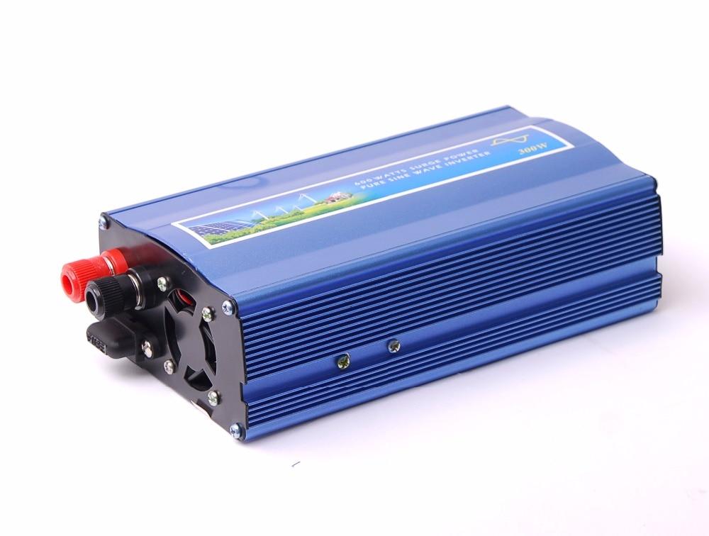 peak power 600w rated power 300W Pure sine wave inverter DC 12V to AC 220V 50hz / dc12v to ac110v 60hz