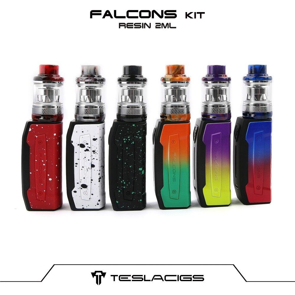 Kit Original Tesla Falcons avec batterie Teslacigs Falcons Vape 2000 mah et réservoir en résine vaporisateur de cigarettes électroniques 2 ml/6 ml