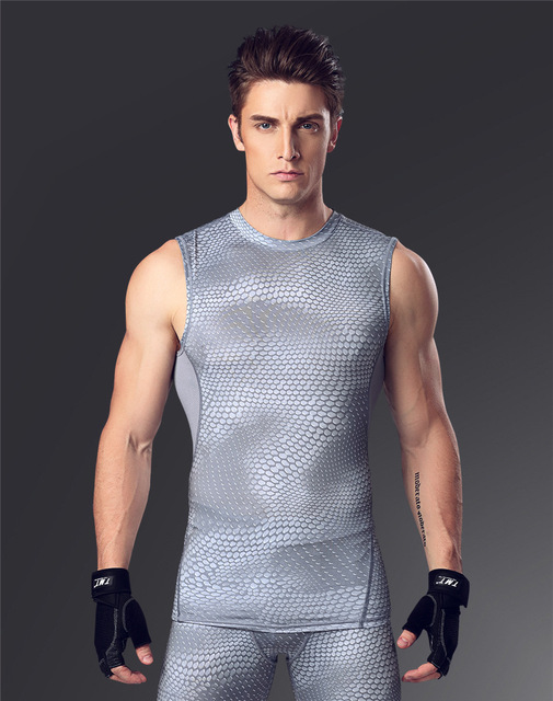 Muscle men gym exercise clothes compression tights t shirt for Buff dudes t shirt