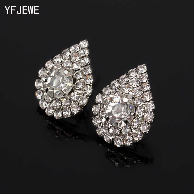 2019 Long Fashion Jewelry Drop Wedding Earrings For Brides Popular Rhinestone Dress Baldpates Natural Stone Women Earings E016