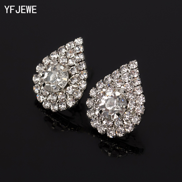 2018 Long Fashion Jewelry Drop Wedding Earrings For Brides Popular Rhinestone Dr