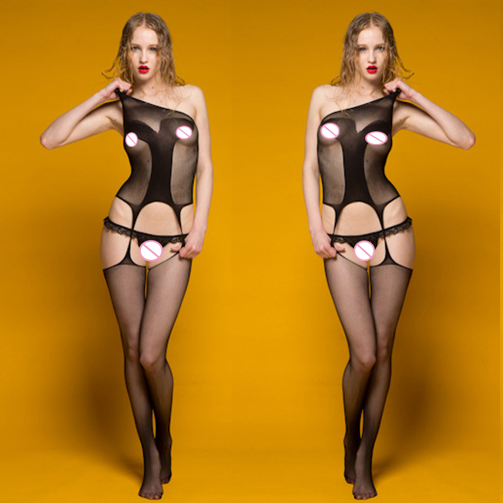 Sexy Lingerie Hot Bodysuit Sexy Costumes Intimate Women Bodystocking Open Crotch font b Sex b font