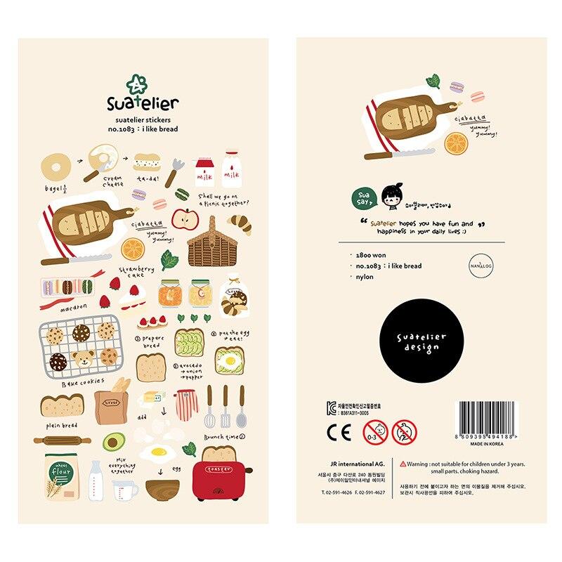 Bread Strawberry Beauty Decorative Stationery Stickers Scrapbooking DIY Diary Album Stick