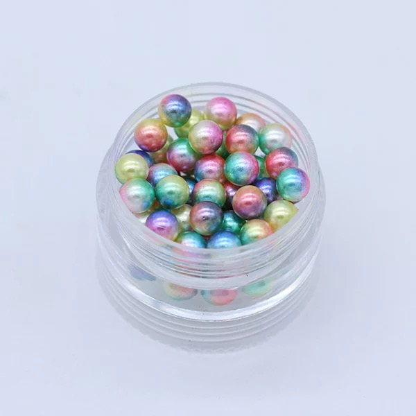 3/4/5/6/8mm Red Colorful Multicolor No holes Round Imitation Garment Pearl For Fashion Jewelry Making 7#