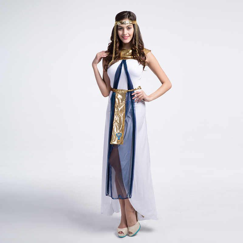 6b86f7607ed0 ... Sexy Greek Goddess Fancy Dress Halloween Carnival Party Masquerade  Costume Athena Greece Queen White Dress ...