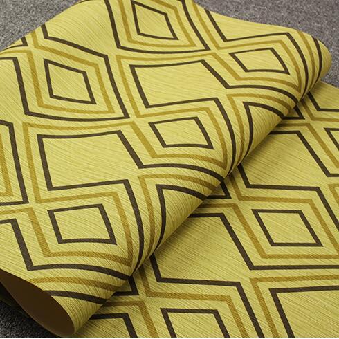 Nouveau luxe géométrique impression fond papier peint treillis mosaïque papier peint rouleau bleu et vert jaune
