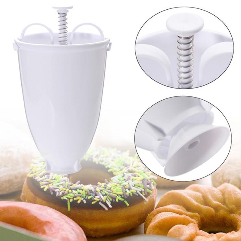 Kitchen Plastic Doughnut Maker Machine Mold DIY Pastry Making Bake Ware Mould